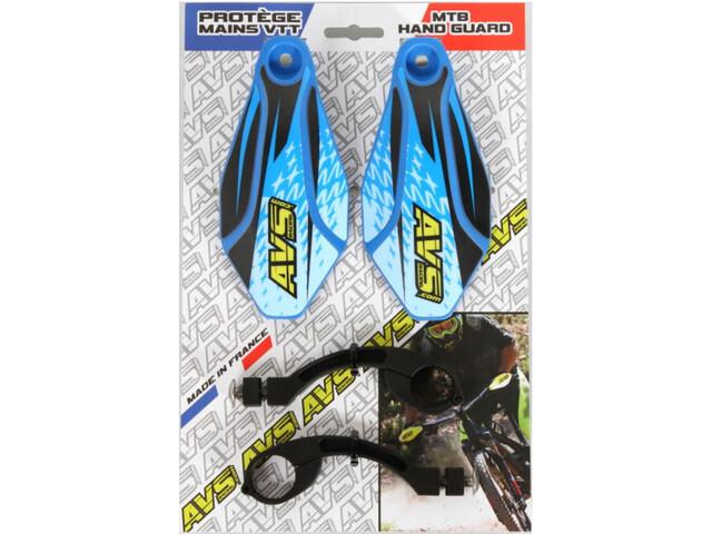 AVS Racing Hand Guard Kit with Design, blue/black